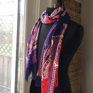 NWT Talbots paisley scarf